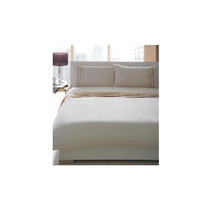 Photo of Catherine Lansfield Duvet Set Double Ribbon Pintuck, Natural Bed Linen