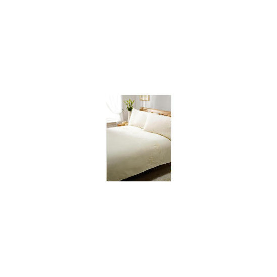 Silent Night Duvet Set King Flower Cream