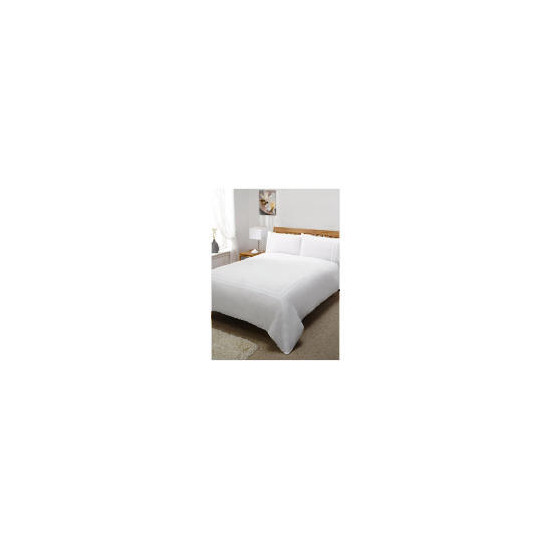 Silent Night Duvet Set King Track White