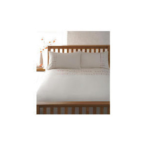 Photo of Catherine Lansfield Duvet Set King Spot Embroidered, Red Bed Linen