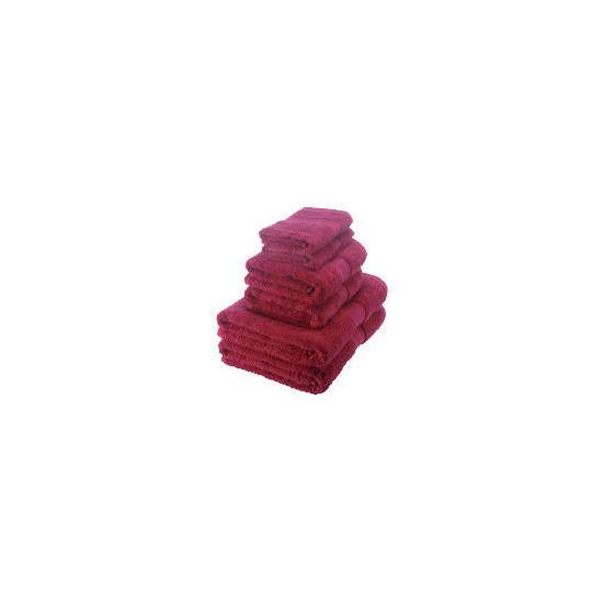 Egyptian Cotton towel bale, dark red
