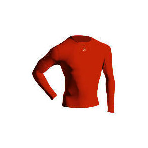 Photo of Long Sleeve Bodyshirt Mock Neck RED Adult Small Tops Man