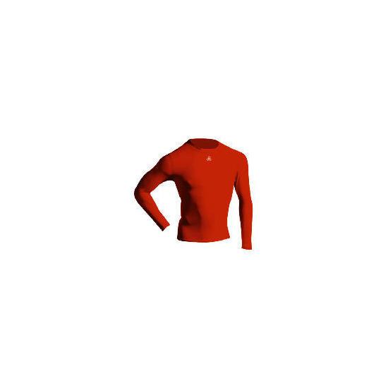 Long Sleeve Bodyshirt Mock Neck RED adult small