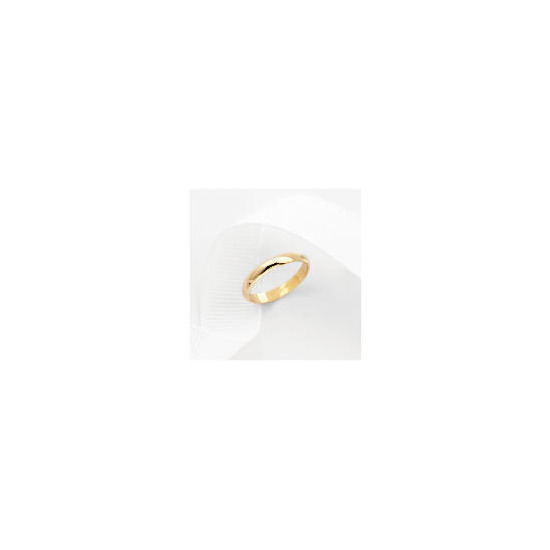 9ct Gold 3mm Wedding Ring K