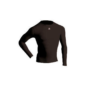 Photo of Long Sleeve Bodyshirt Mock Neck (BLACK Adult Medium) Sports and Health Equipment