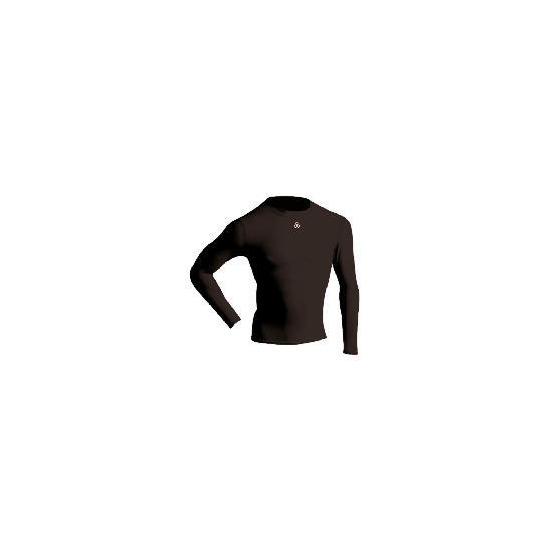 Long Sleeve Bodyshirt Mock Neck (BLACK adult medium)