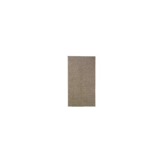 Tesco shaggy rug  mocha, 67x120cm