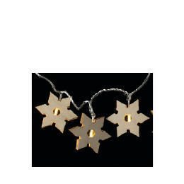 Tesco 16 Low Voltage Warm White LED Wooden Snowflake Lights Reviews