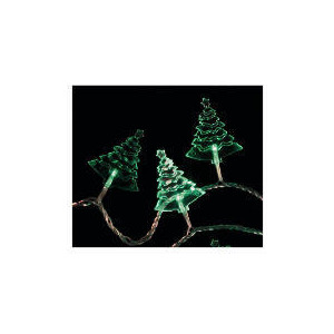 Photo of Tesco 30 Low Voltage Green LED Acrylic Tree Lights (Indoor) Christmas