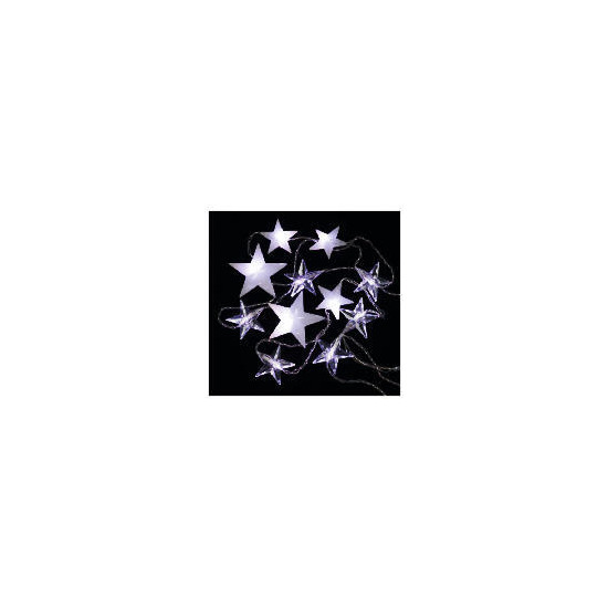 Tesco 1.8 X 1.2M Low Voltage White LED Star Curtain Lights (Outdoor)