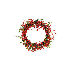 "Photo of Tesco 10"" Red Berry Wreath Christmas"