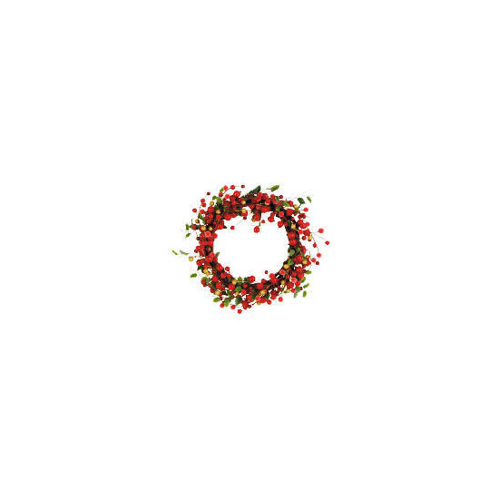 "Tesco 10"" Red Berry Wreath"