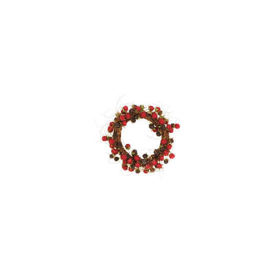 "Tesco 8"" Raspberry Twig Wreath"