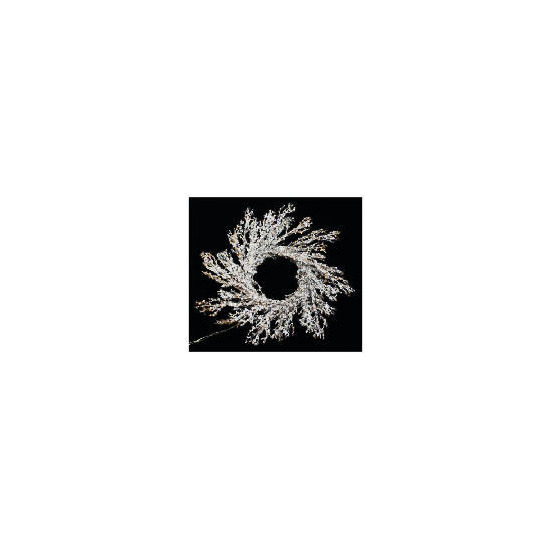 Tesco Pre-Lit Battery Operated Icicle Wreath