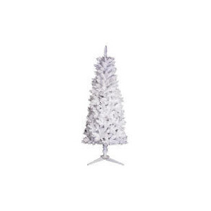 Photo of Tesco 6FT Slim White Tree Christmas