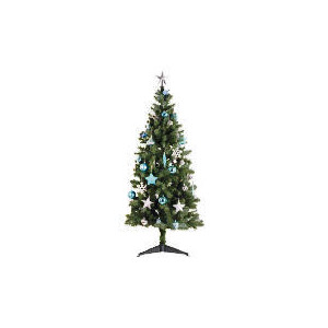 Photo of Tesco 6FT Tree With Blue/ Silver Decorations Christmas