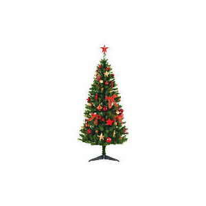Photo of Tesco 6FT Tree With Red/ Gold Decorations Christmas
