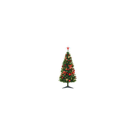 Tesco 6Ft Tree With Red/ Gold Decorations