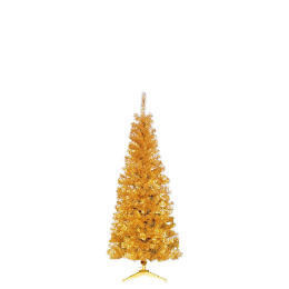 Tesco 6Ft Slim Gold Tree Reviews