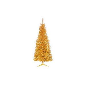 Photo of Tesco 6FT Slim Gold Tree Christmas