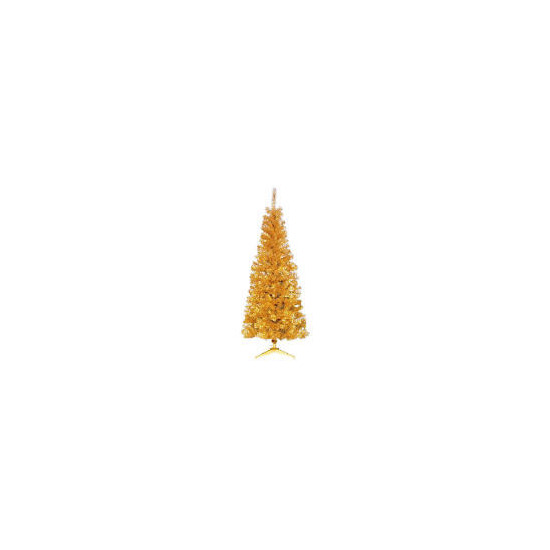 Tesco 6Ft Slim Gold Tree