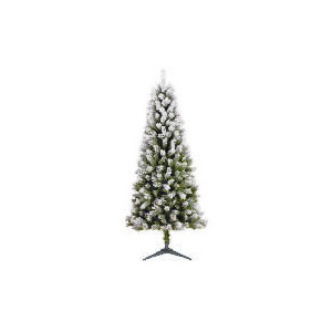 Photo of Tesco 6FT Flocked Spruce Tree Christmas