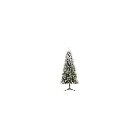 Tesco 6Ft Flocked Spruce Tree