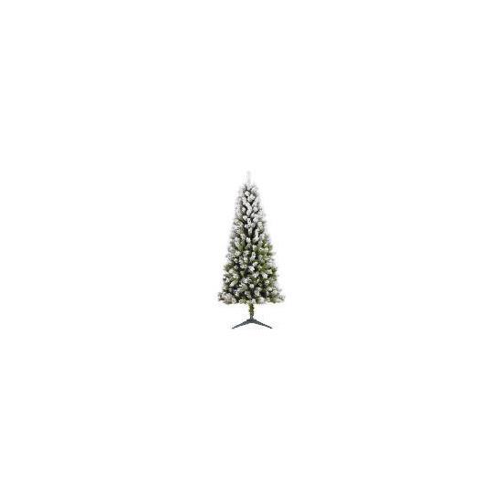 Tesco 6Ft Flocked Spruce Tree