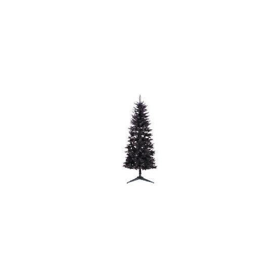 Tesco 6Ft Slim Black Tree