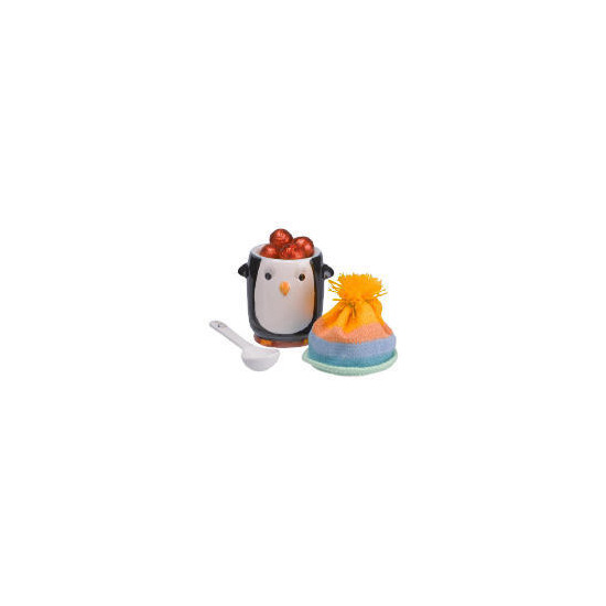 Cool wonderland penguin egg cup