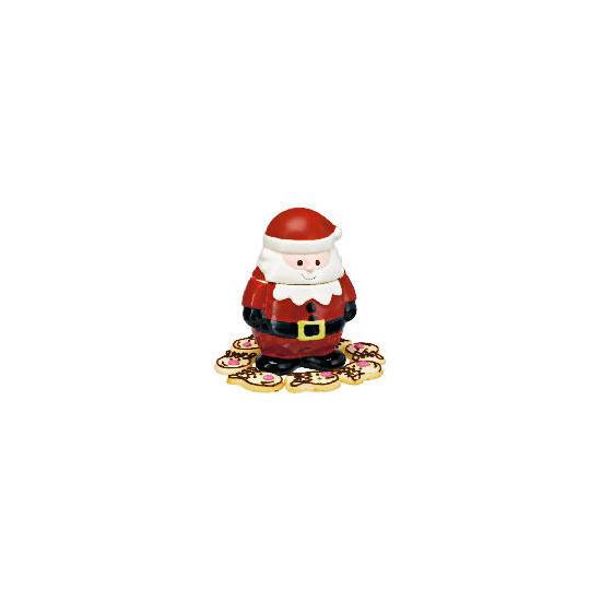 Cool wonderland Santa cookie jar