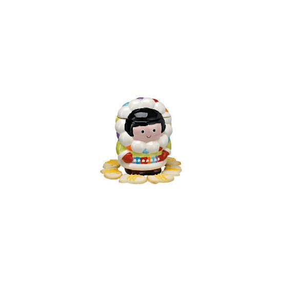 Cool wonderland Eskimo cookie jar
