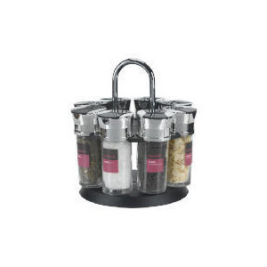 Photo of Savour 8 Jar Spice Rack Set Kitchen Accessory