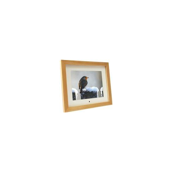 "8"" Digital Photo Frame - Light Wood"