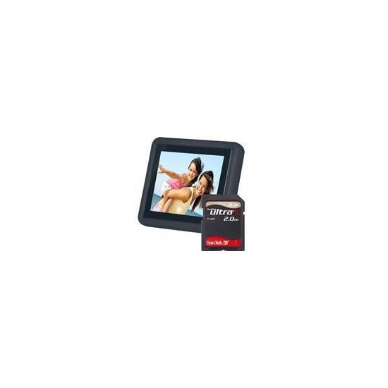 """3.5"""" LCD Photo Frame with 2GB Card"""