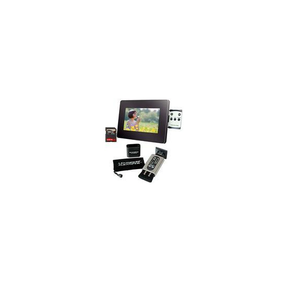 "7"" LCD Photo Frame + Klearpix Bundle"