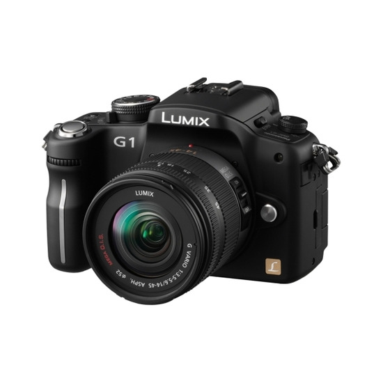 Panasonic Lumix DMC-G1 with 14-45mm and 45-200mm lenses
