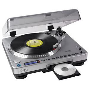 Photo of ION LP2CD TURNTABLE WITH BUILT IN CD RECORDER Adaptors and Cable