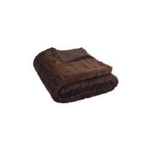 Photo of Tesco Ribbed Faux Fur Throw , Chocolate Cushions and Throw