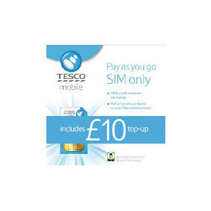 Photo of Tesco Mobile Pay As YOU Go SIM With £10 Top-Up Included Sim Card