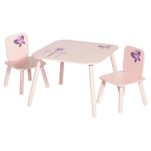 Photo of Crayon Table and 2 Chair Set Pink Toy