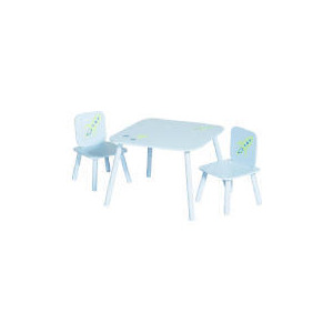Photo of Crayon Table and 2 Chair Set Blue Toy
