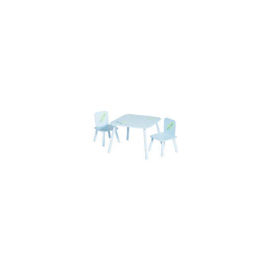Crayon Table and 2 Chair Set blue