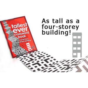Photo of Tallest Ever Crossword Book Gadget