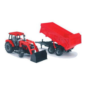 Photo of Bruder - Tractor and Trailer Red Case Toy