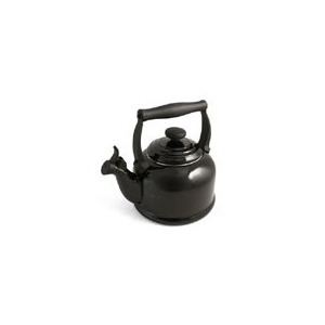 Photo of Le Creuset Stoneware Whistling Traditional Kettle - Satin Black Kettle