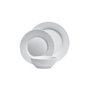 Photo of Tesco Rimmed Porcelain 12 Piece Set Dinnerware