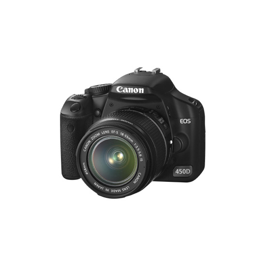 Canon EOS 450D with 18-55mm and 55-250mm lenses