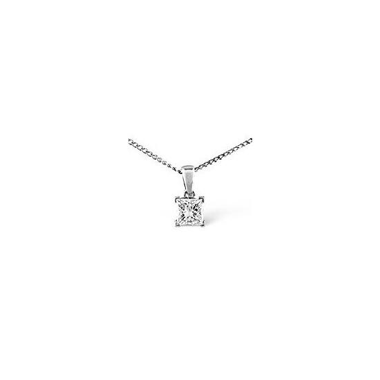 18KW Diamond Pendant 0.25CT H/SI