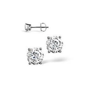 Photo of Platinium Diamond Stud Earrings 0.50CT g/VS Jewellery Woman